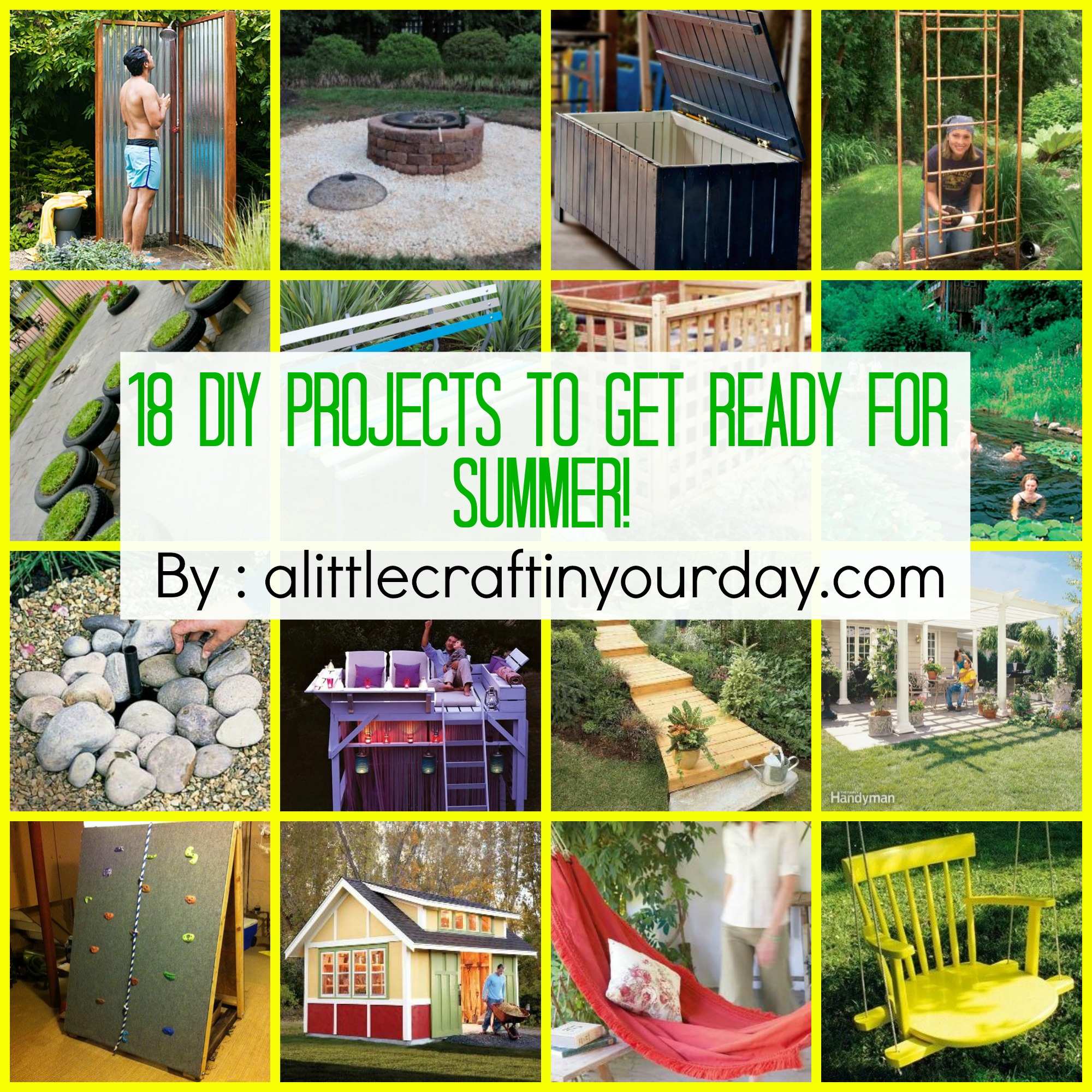 Diy Ideas Summer: 18 DIY Projects To Get Ready For SUMMER!