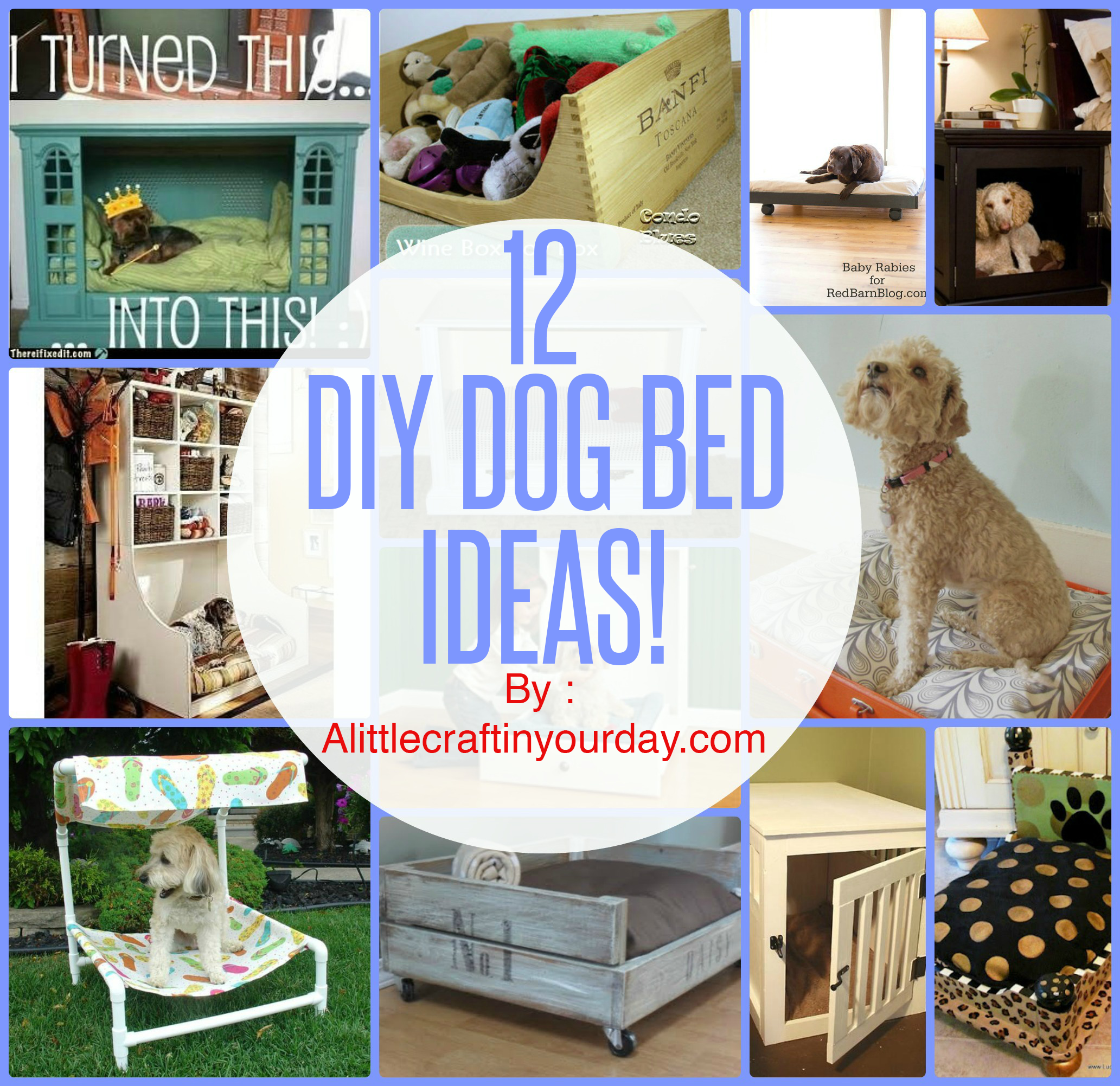12 DIY Dog Beds - A Little Craft In Your Day