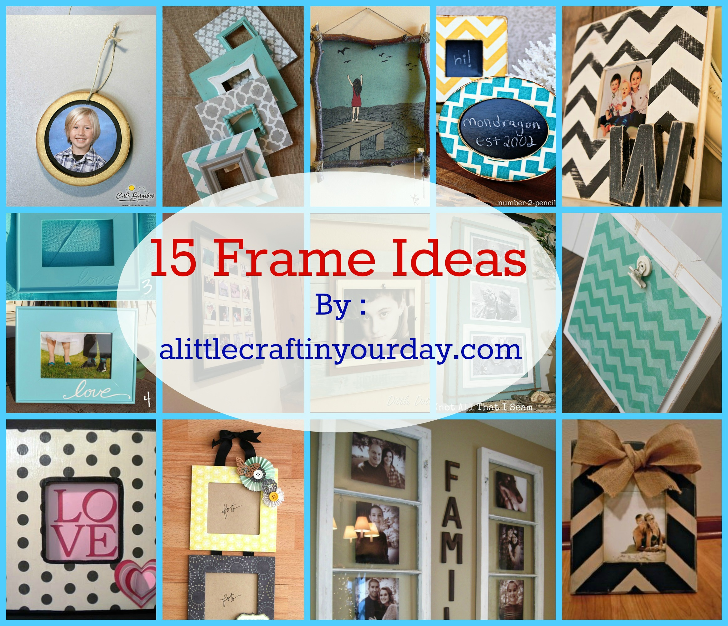 14 photo frame ideas a little craft in your day - Designs in glasses for house decoration ...