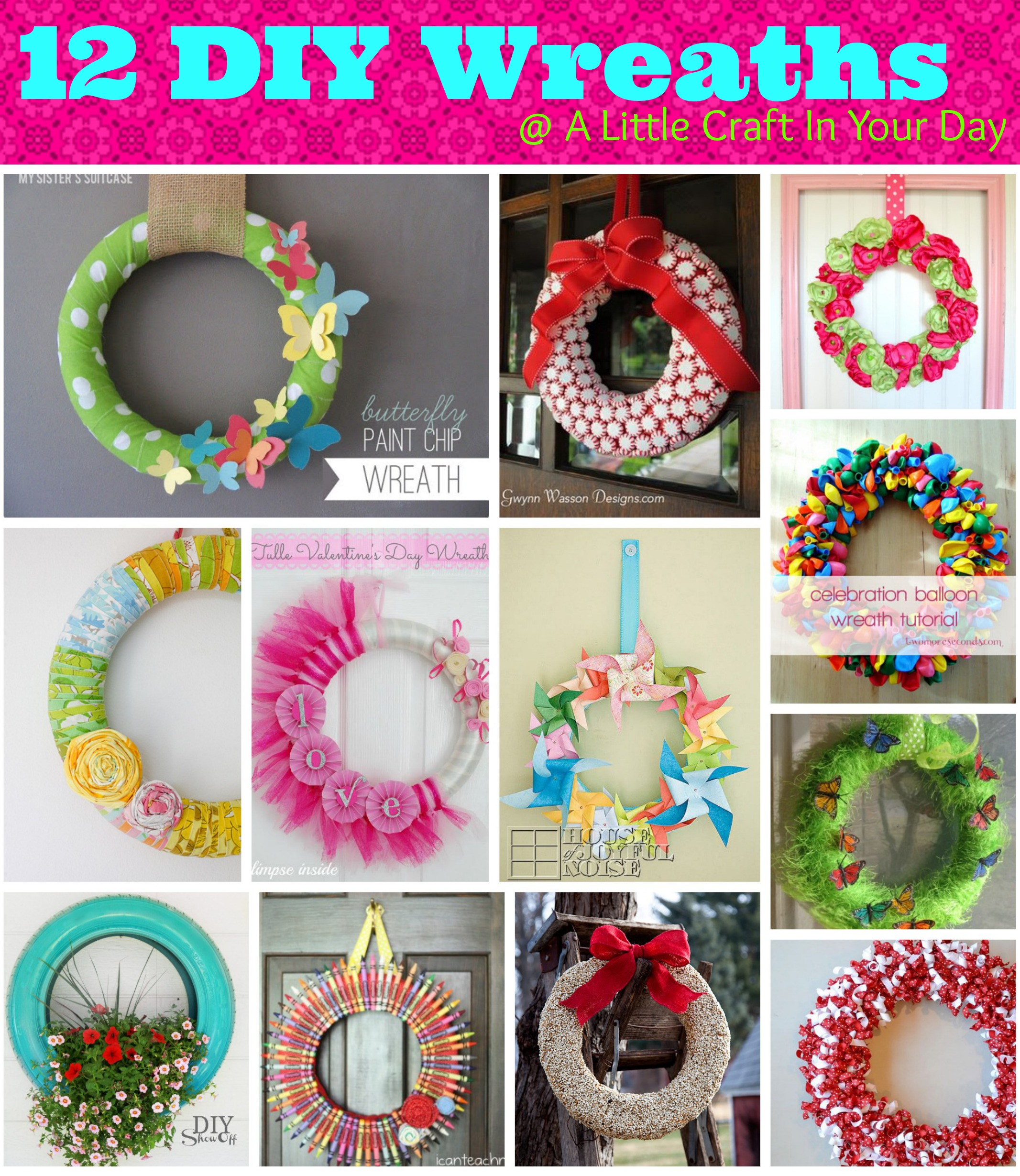 Creative Wreath Ideas: A Little Craft In Your Day