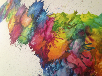 Melted crayon art a little craft in your day for Painting projects for adults