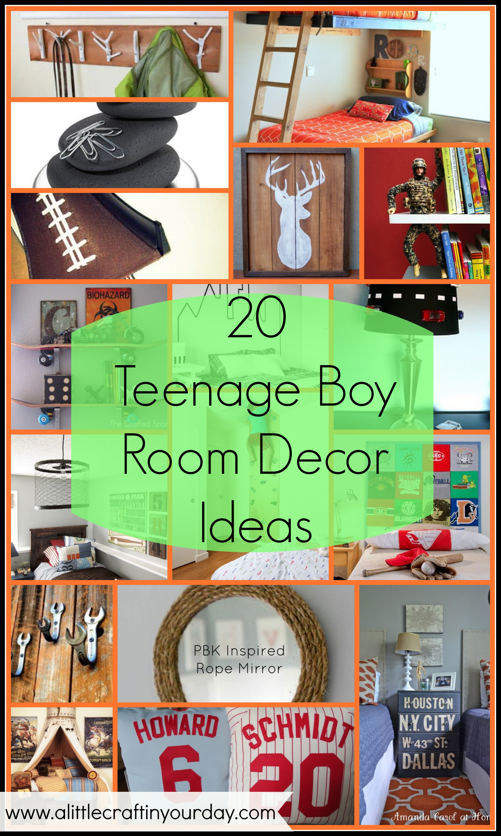 20 teenage boy room decor ideas a little craft in your day - Boy Bedroom Decor Ideas