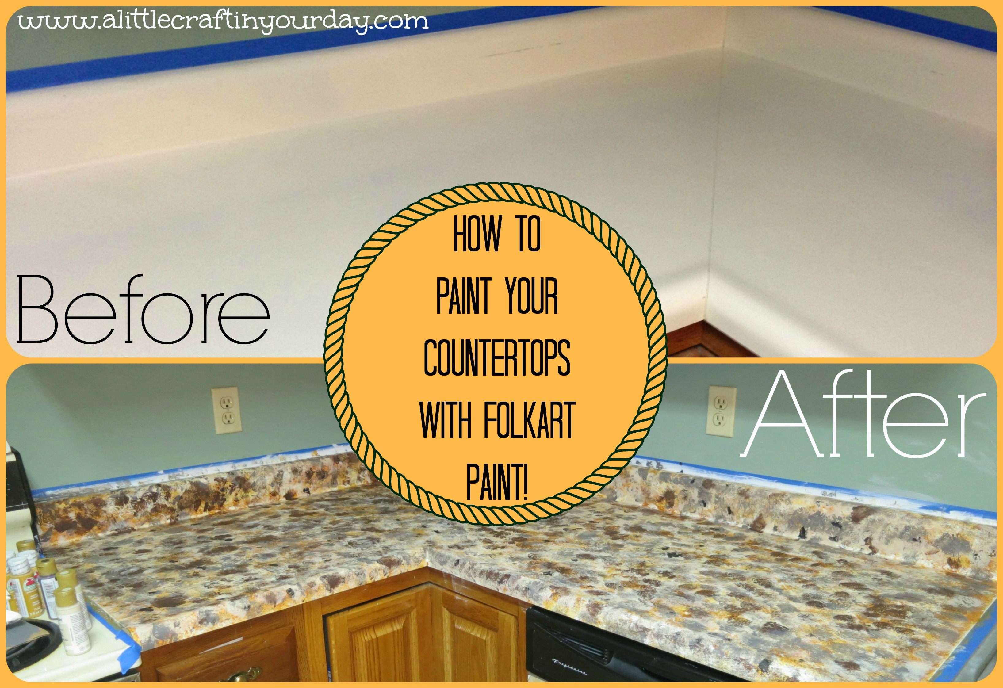 9/30 | How To Paint Your Countertops With Folkart Paint!