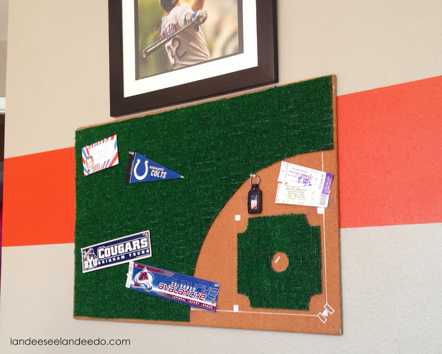 DIY Baseball Diamond Bulletin Board