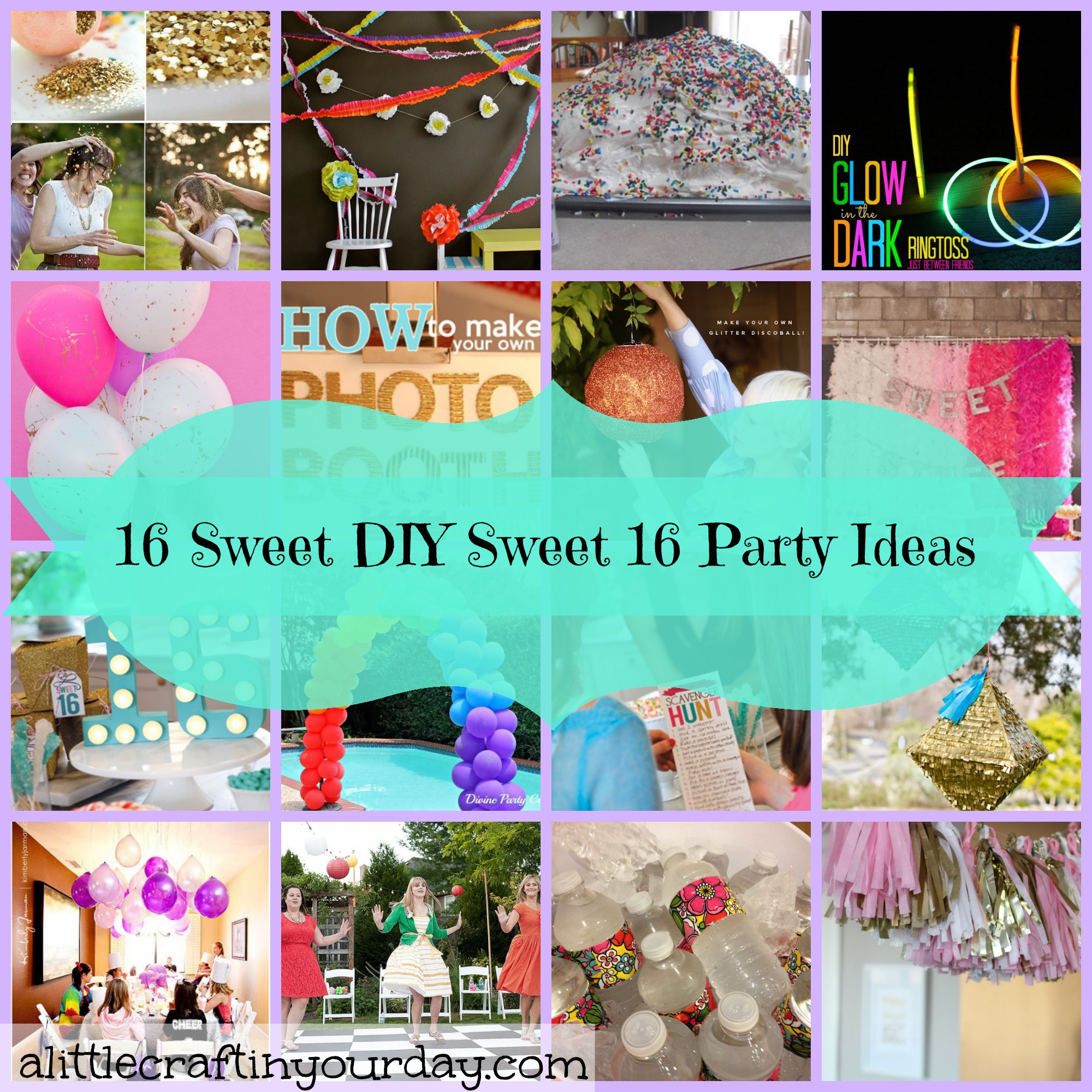 16 sweet diy sweet 16 party ideas a little craft in your daya little