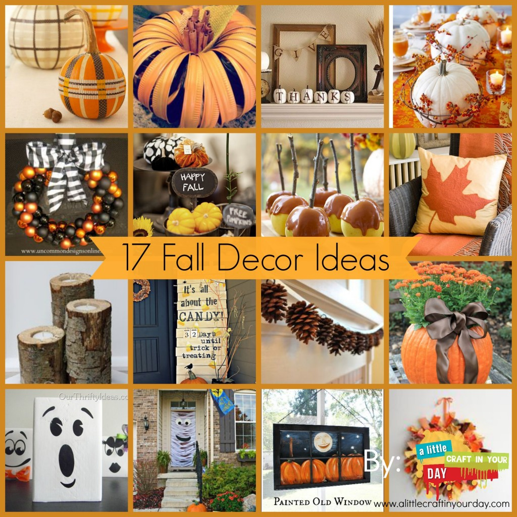 17 fall decor ideas a little craft in your day for Art and craft ideas for room decoration