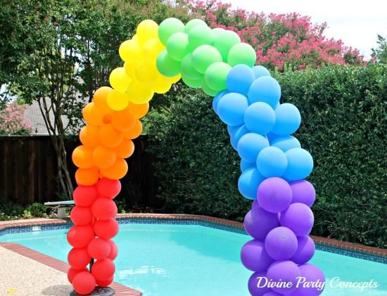 16 sweet diy sweet 16 party ideas a little craft in your for How to build a balloon arch