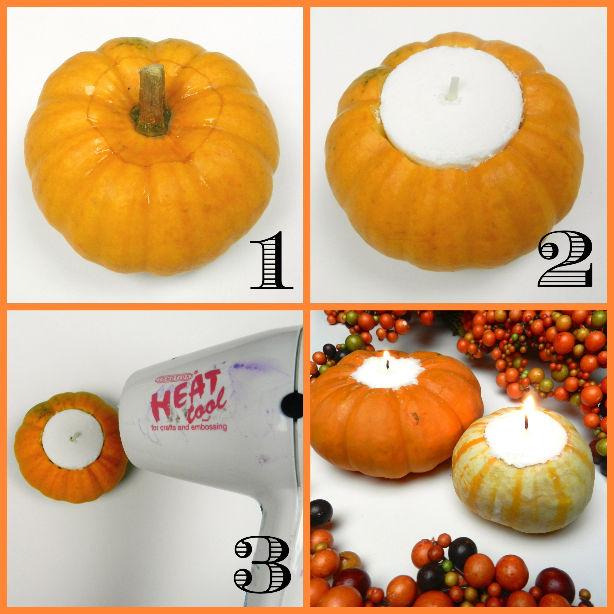Pumpkin Tea Light Candles A Little Craft In Your Day