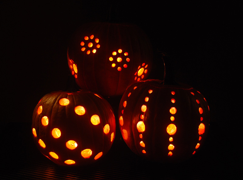 DIY Pumpkin Carving With A Drill - A Little Craft In Your Day