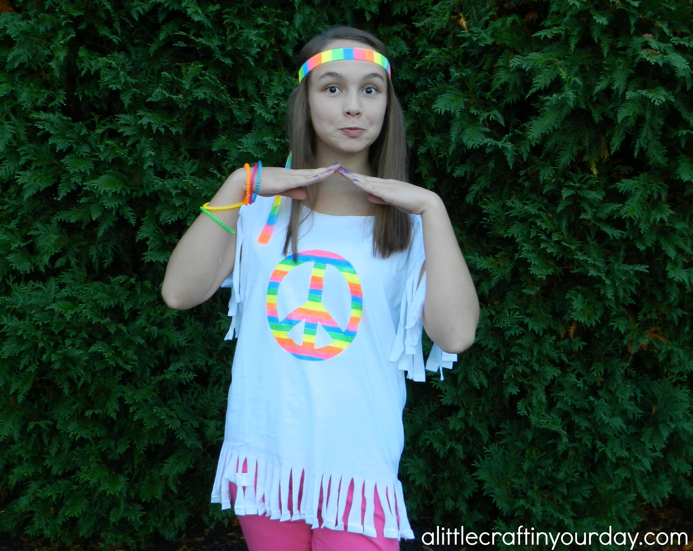 Hippie Halloween Costume - A Little Craft In Your Day