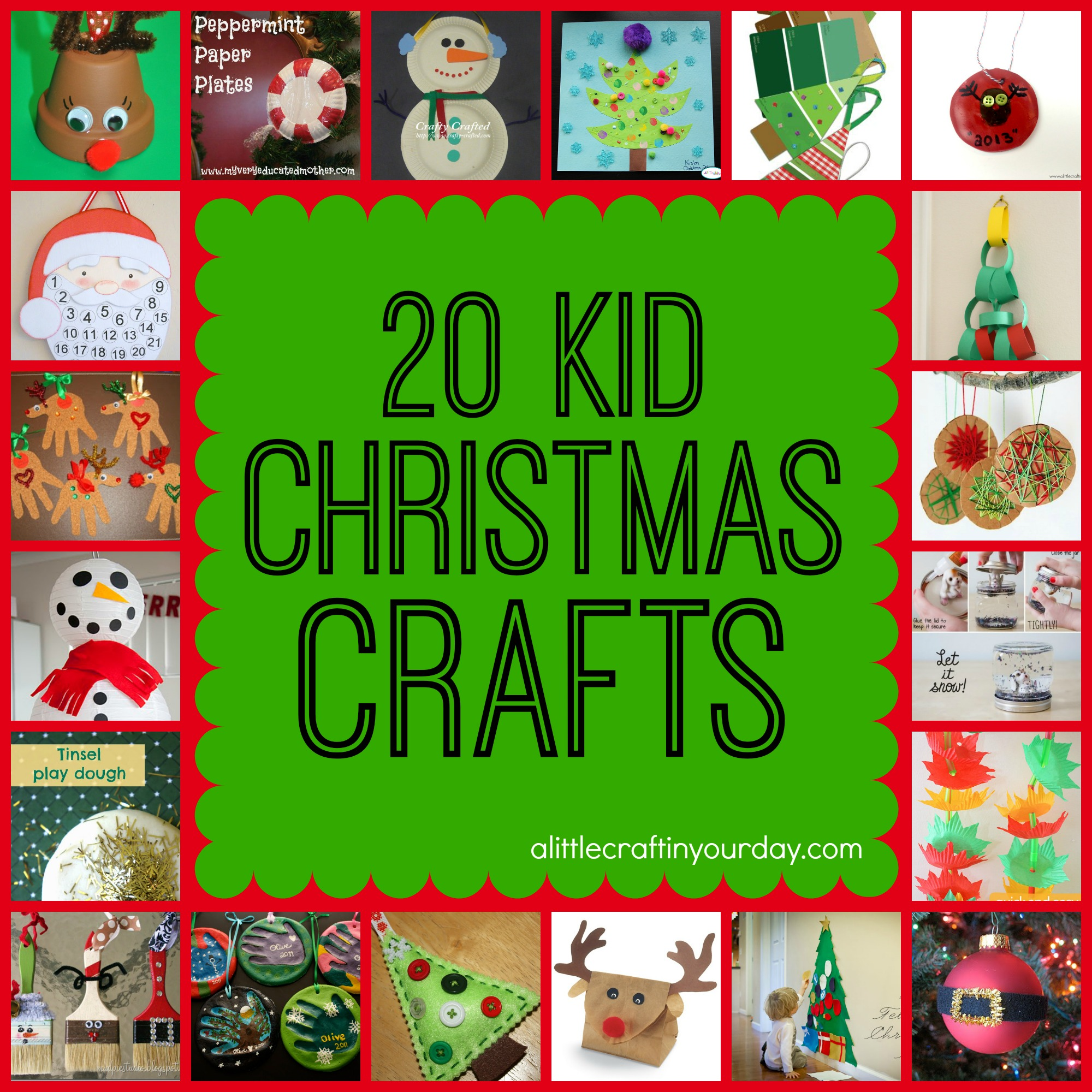 20 Christmas Kid Crafts A Little Craft In Your Day