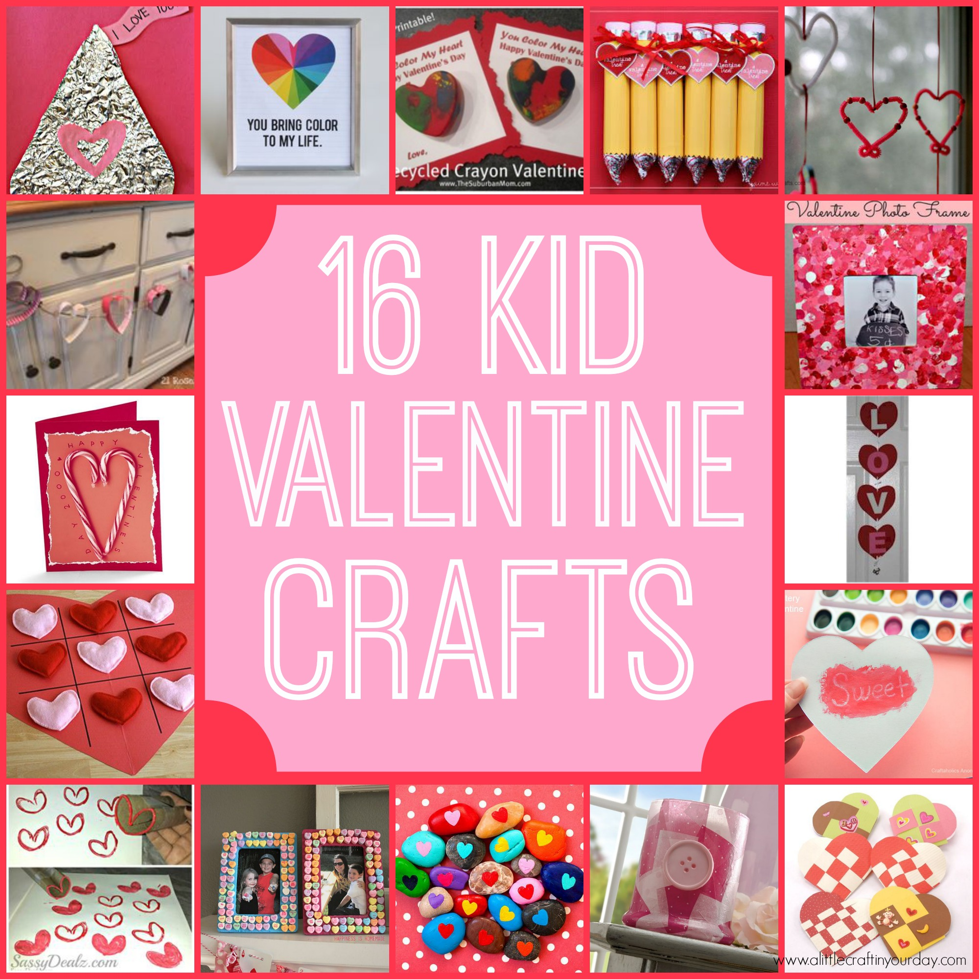 16 valentine kid crafts a little craft in your day for Valentine party crafts for school