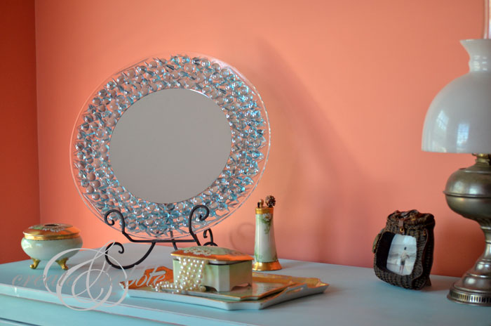 Glass gem mirror a little craft in your daya little for Glass and mirror craft