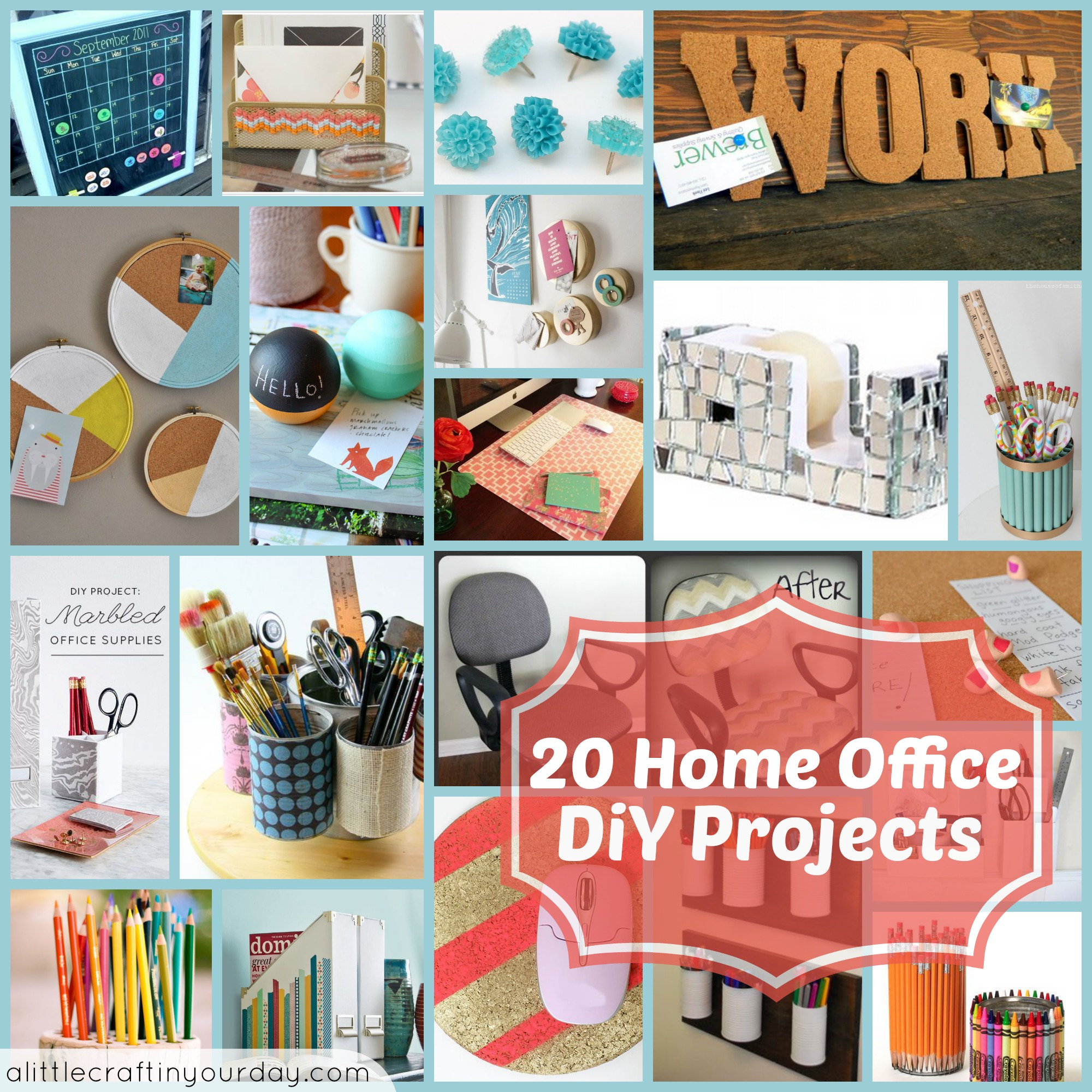 20 home office diy projects a little craft in your day