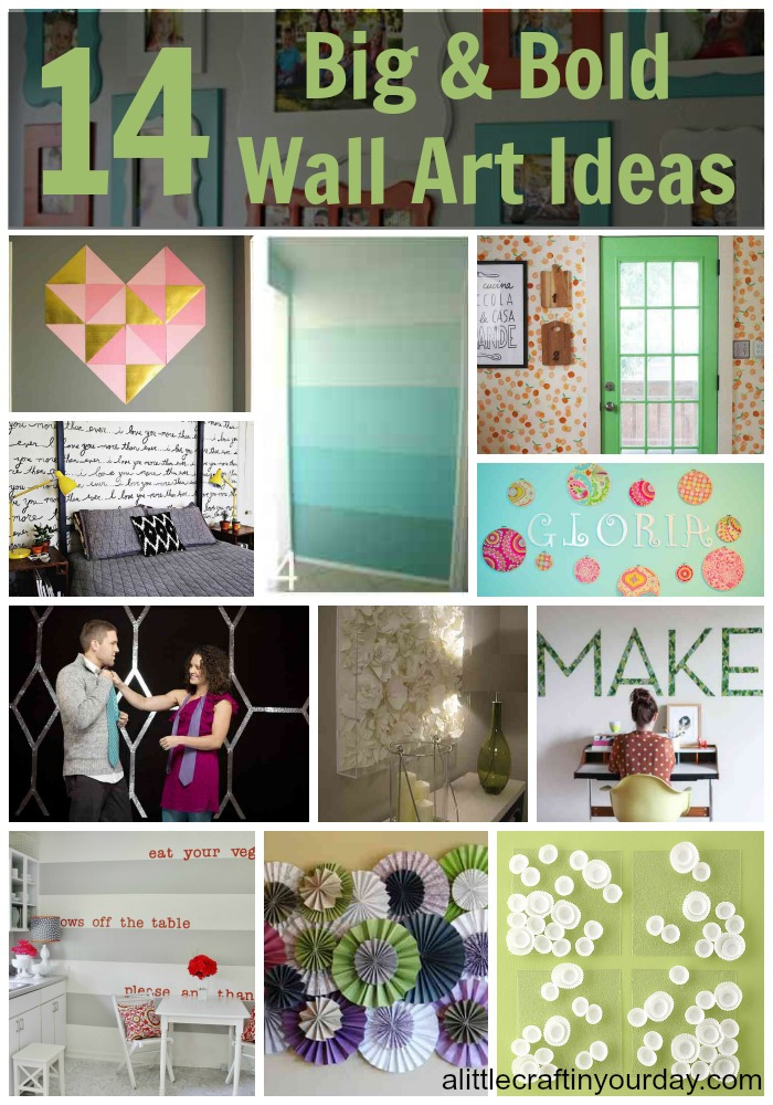 14 Big and Bold Wall Art Ideas - A Little Craft In Your Day Gl Wall Art Kitchen Decor Ideas Html on
