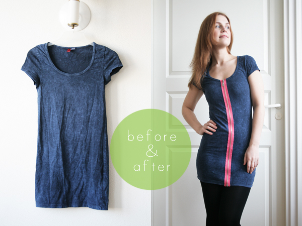 zipper dress b&a