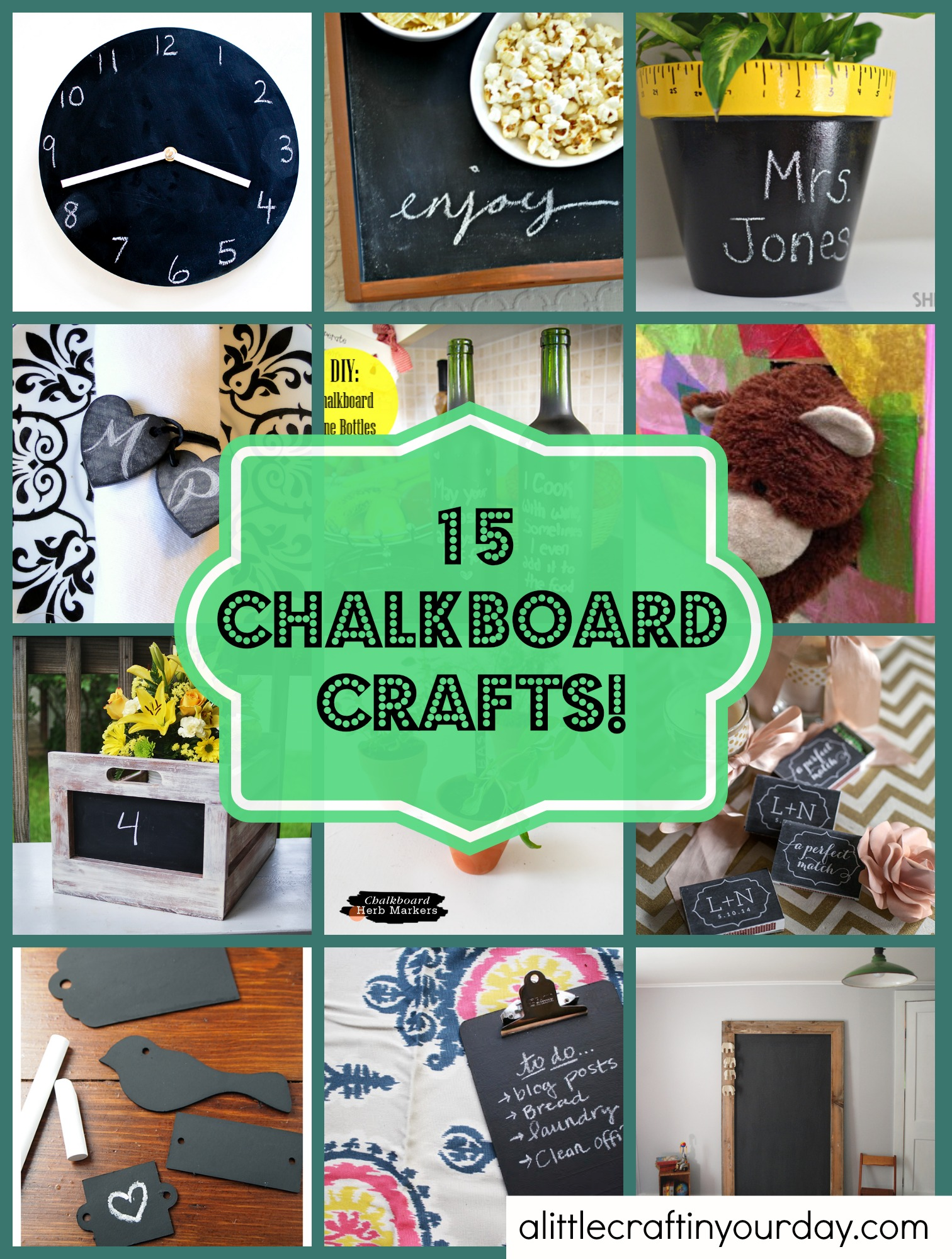 15 Chalkboard Crafts A Little Craft In Your Day