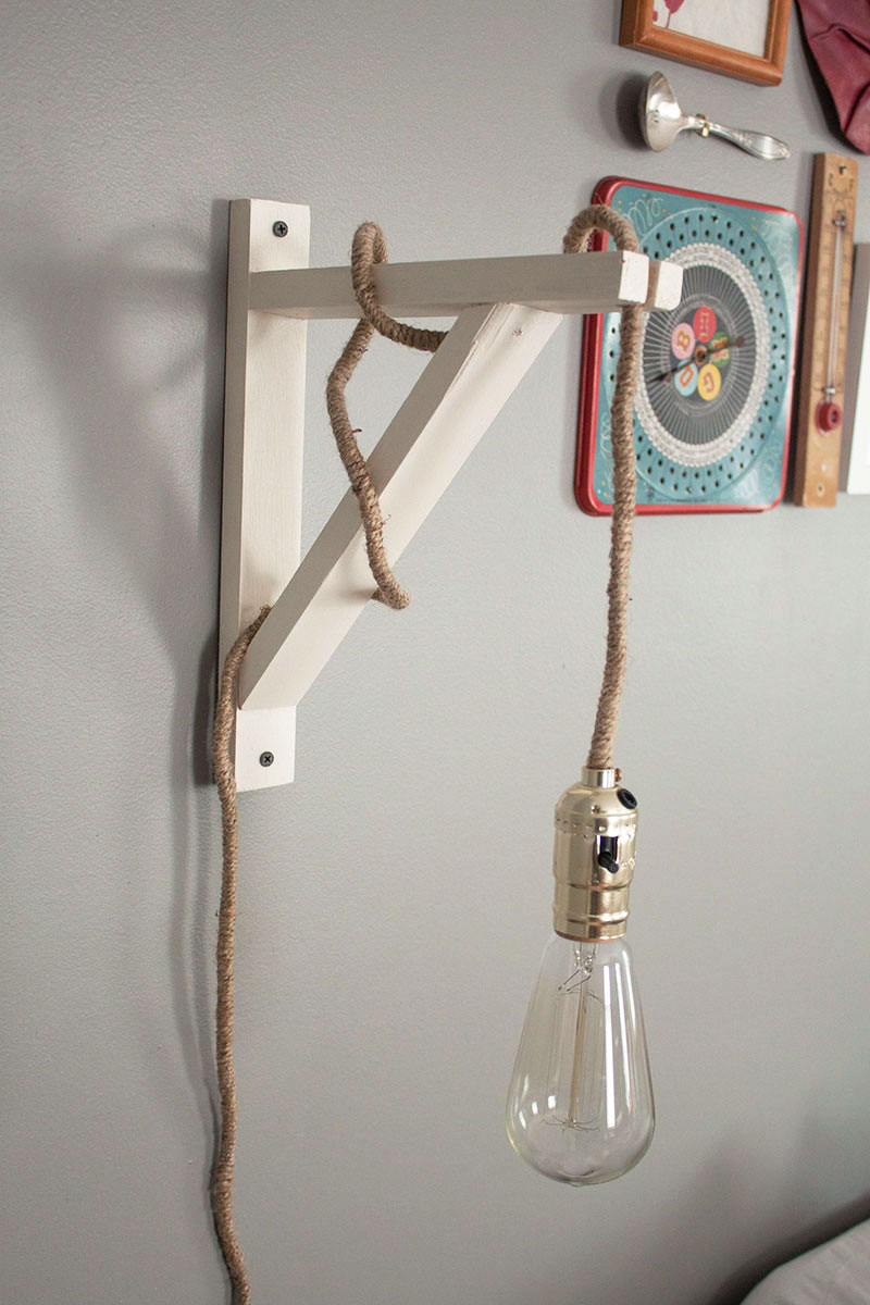 Diy Wall Lamp A Little Craft In Your Day