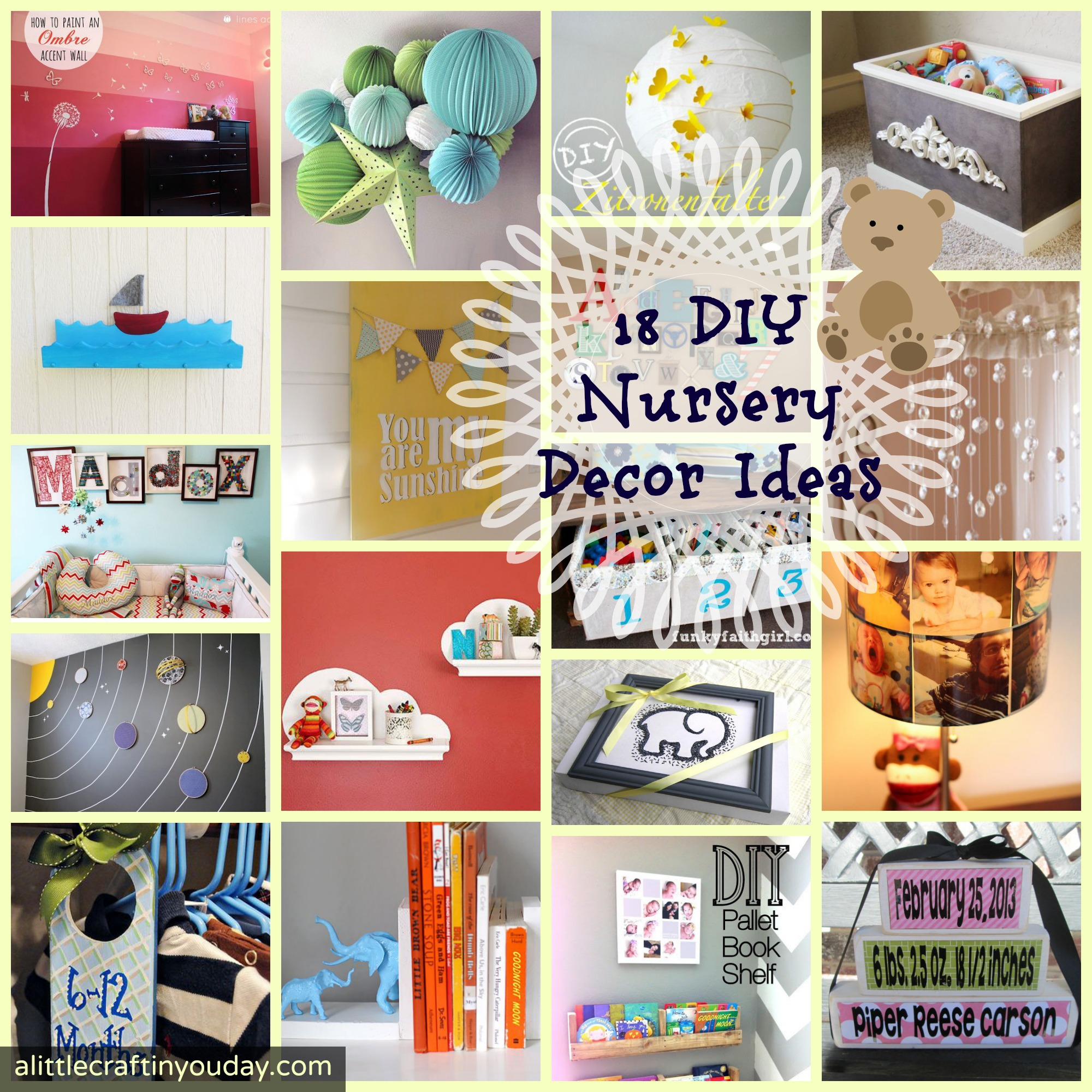 nursery art and craft ideas 18 diy nursery decor ideas a craft in your day 6972