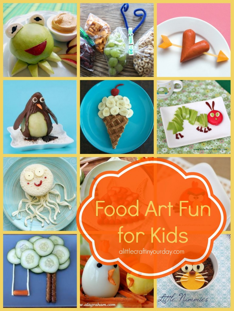 Food art fun for kids a little craft in your day for Fun kid food crafts