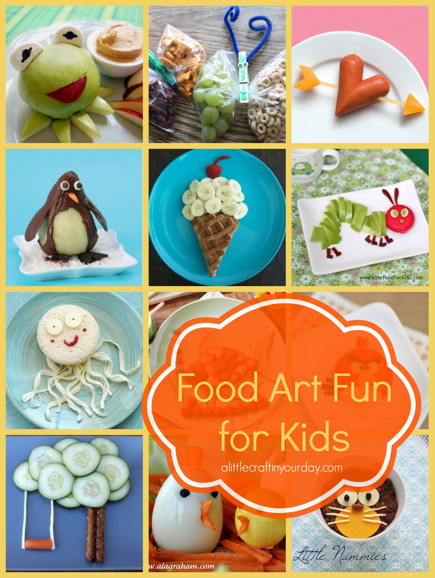 Food art fun for kids a little craft in your daya little for Fun kid food crafts