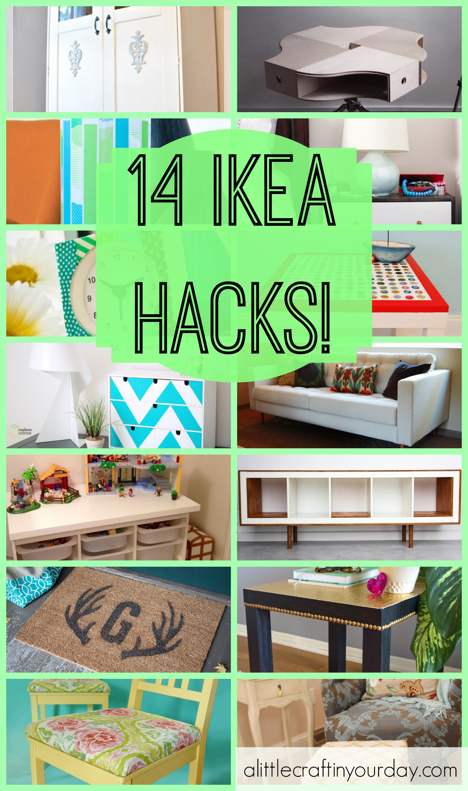 14 ikea hacks a little craft in your day. Black Bedroom Furniture Sets. Home Design Ideas