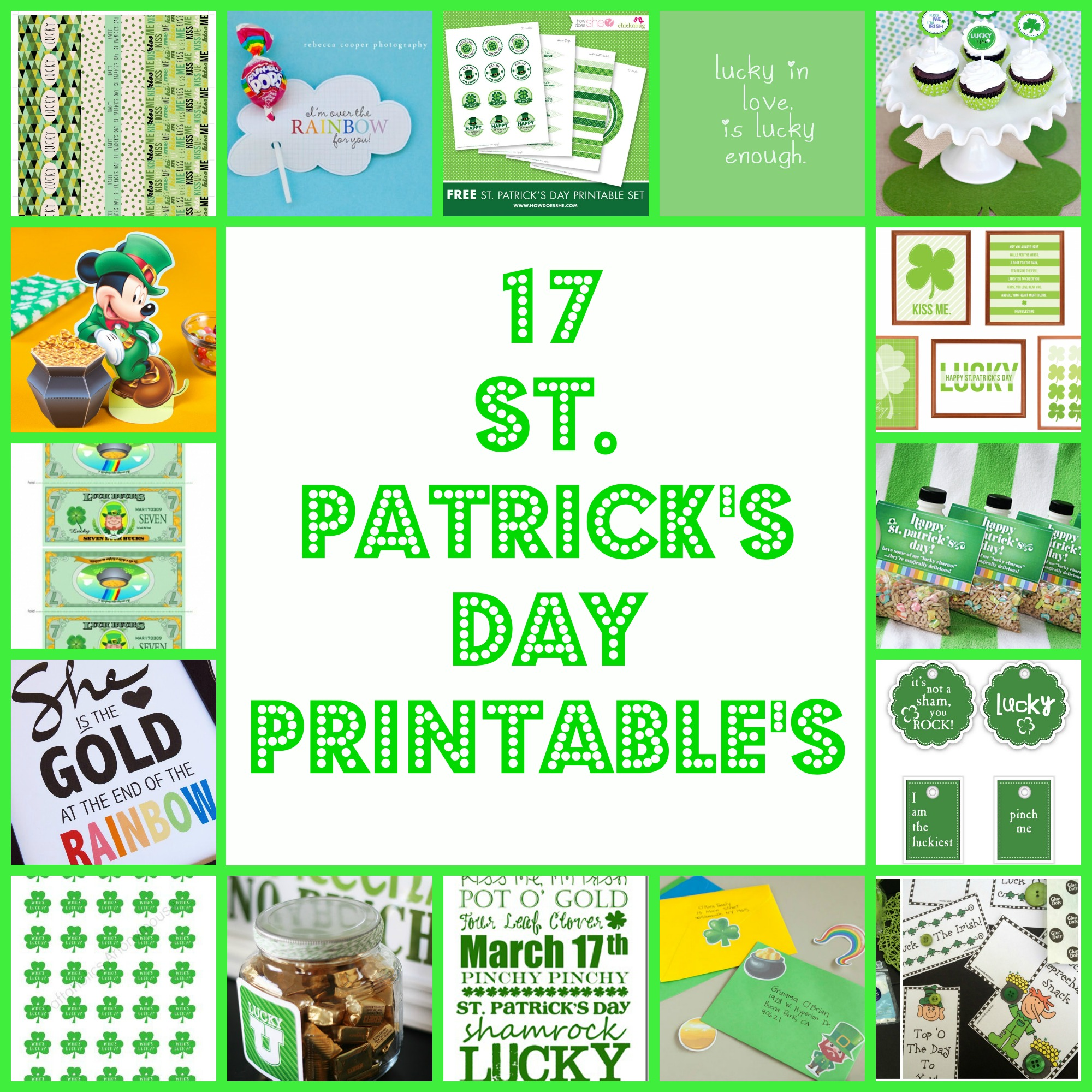17 st patrick u0027s day printable u0027s a little craft in your day