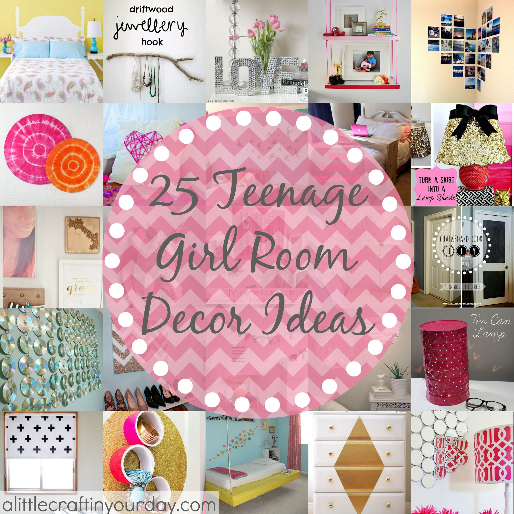 25 more teenage girl room decor ideas a little craft in for Room decor ideas handmade