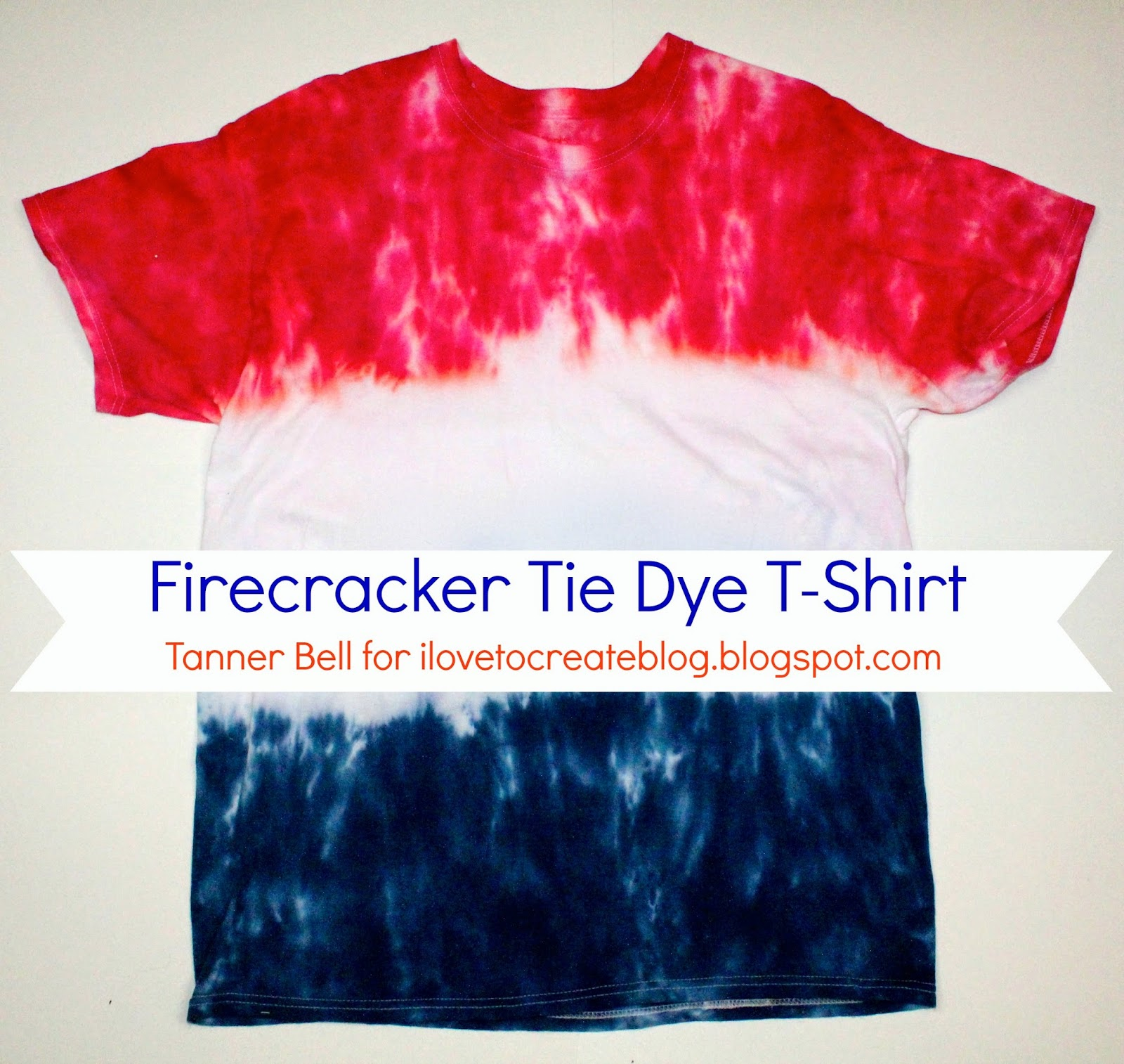 Firecracker tie dye t shirt a little craft in your day for How to make tie dye shirts at home