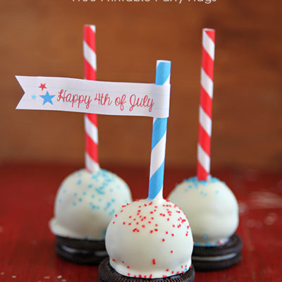 Oreo Cheesecake Pops with Free Party Printables thumbnail