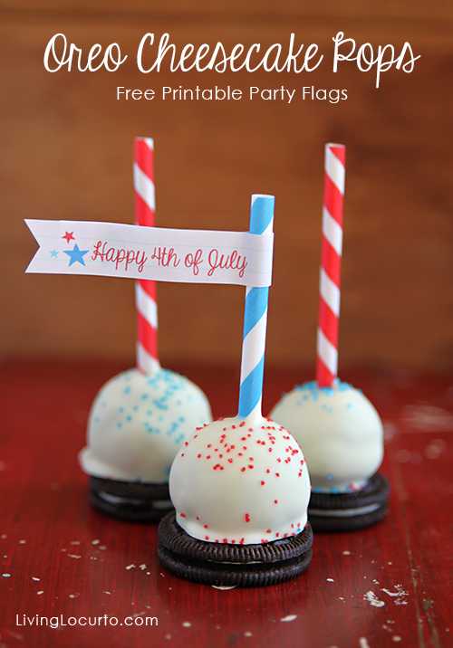 Oreo Cheesecake Pops with Free Party Printables