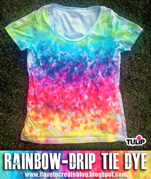 Rainbow-Drip Tie Dye Shirt - A Little Craft In Your Day-5651