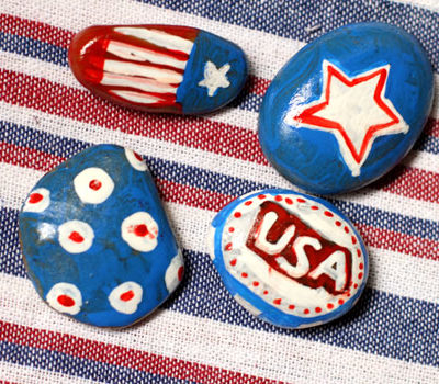 Make Patriotic Tablecloth Weights thumbnail