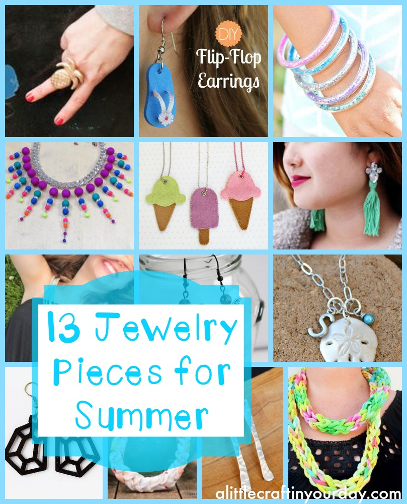 Diy Ideas Summer: 13 DIY Jewelry Pieces For Summer
