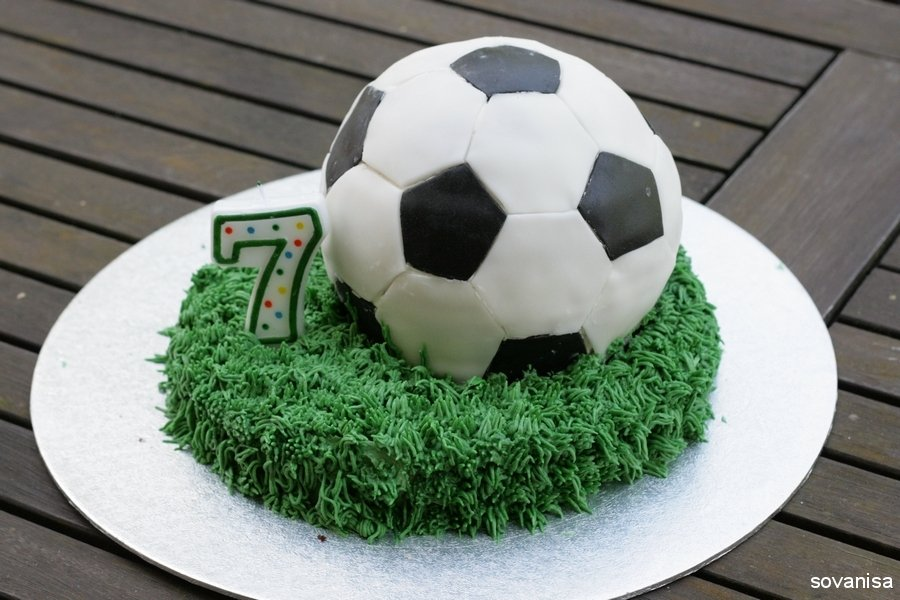 Soccer Ball Cake - A Little Craft In Your Day