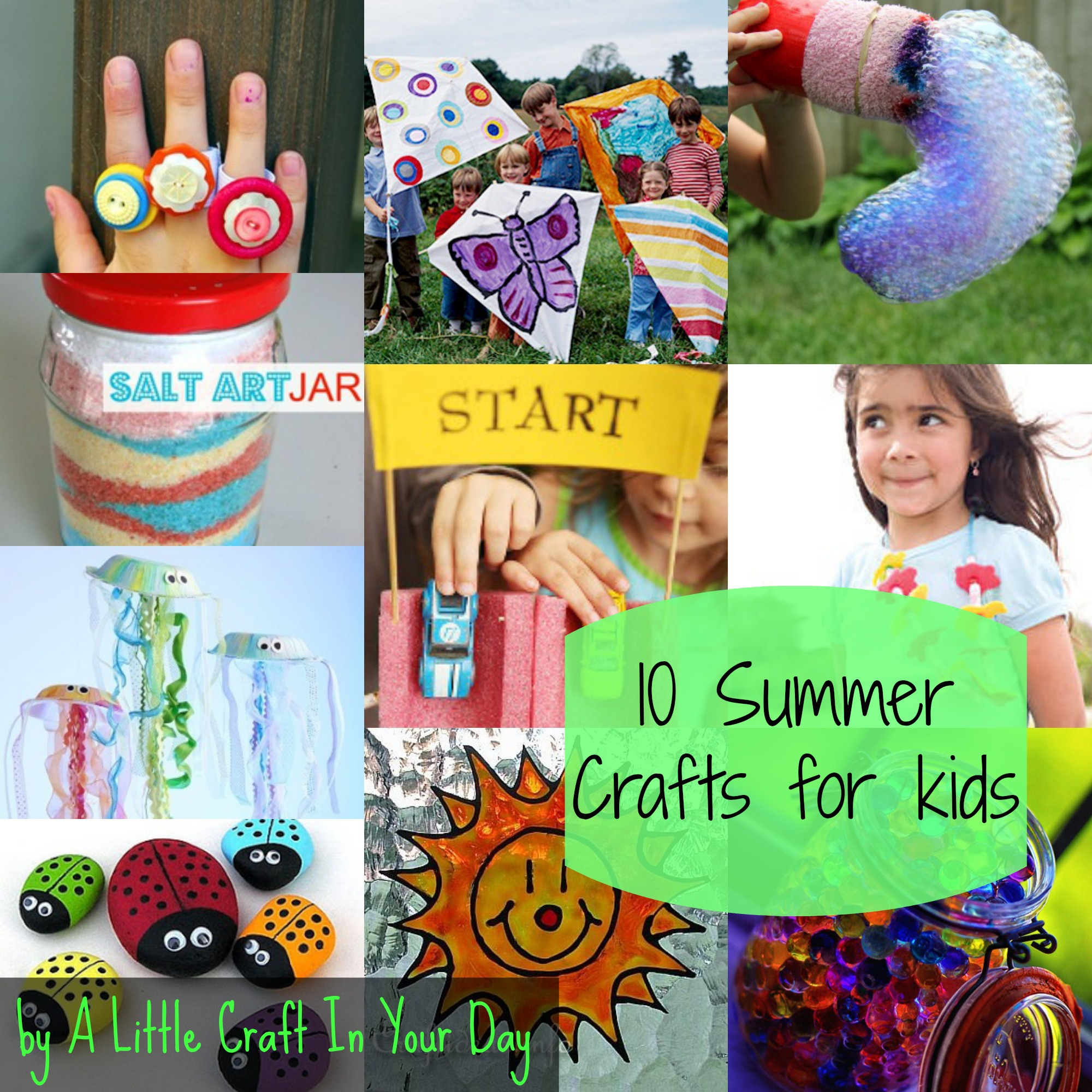 20 Summer Kid Crafts A Little Craft In Your Day