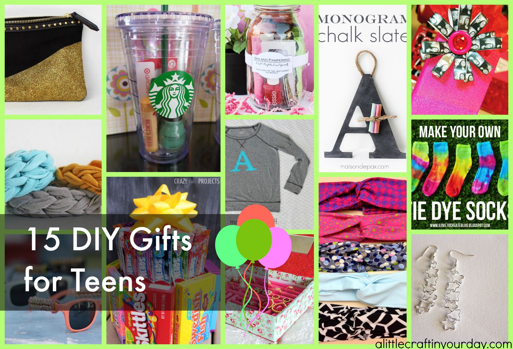 DIY Gifts For Teens - A Little Craft In Your Day
