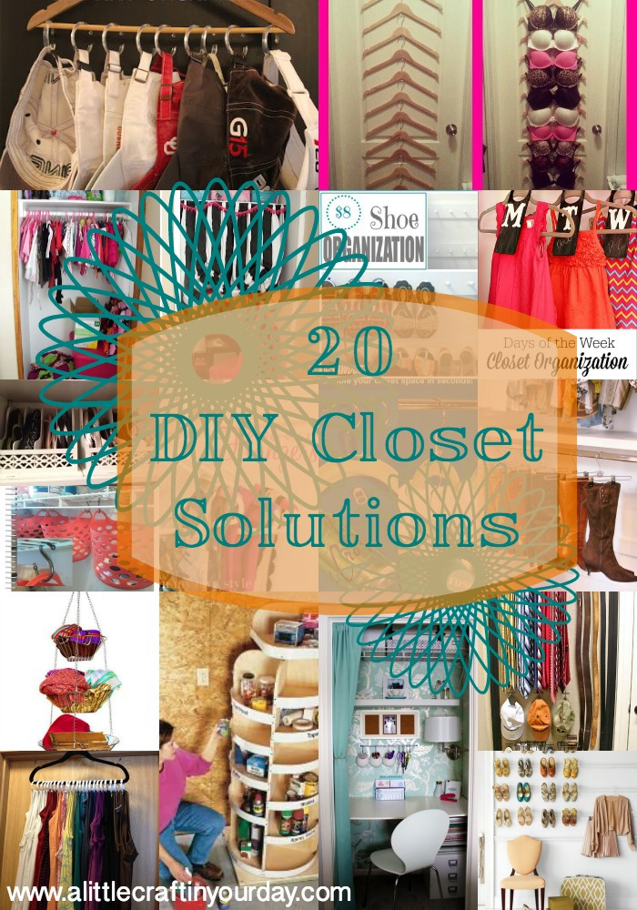 20 diy closet solutions a little craft in your day Diy wardrobe organising ideas