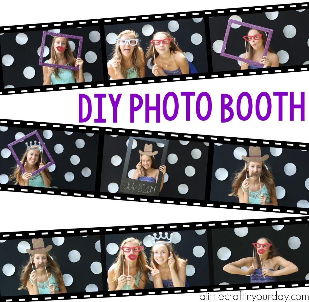diy photo booth a little craft in your day. Black Bedroom Furniture Sets. Home Design Ideas
