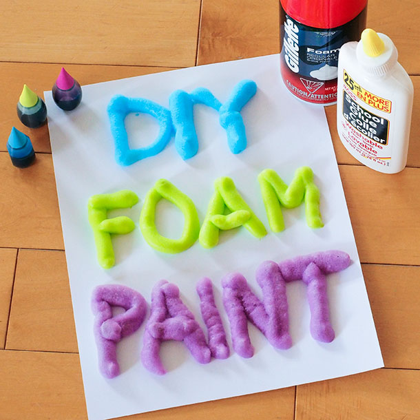 3 ingredient diy foam paint a little craft in your day for Awesome crafts to do at home