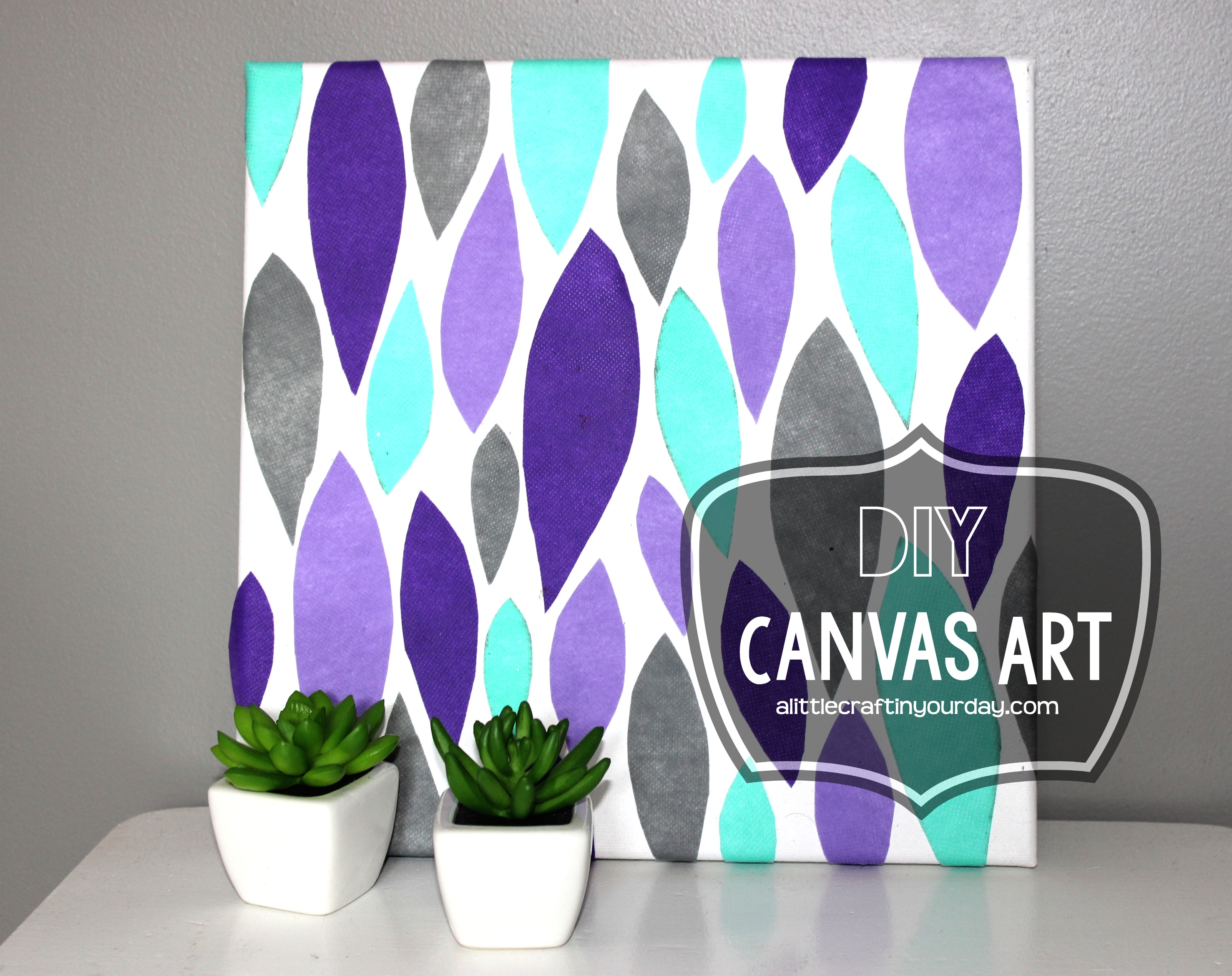 Diy canvas art a little craft in your day for Diy art projects canvas