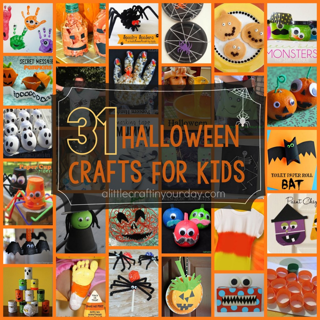 104 halloween craft ideas a little craft in your day for Crafts for little kids