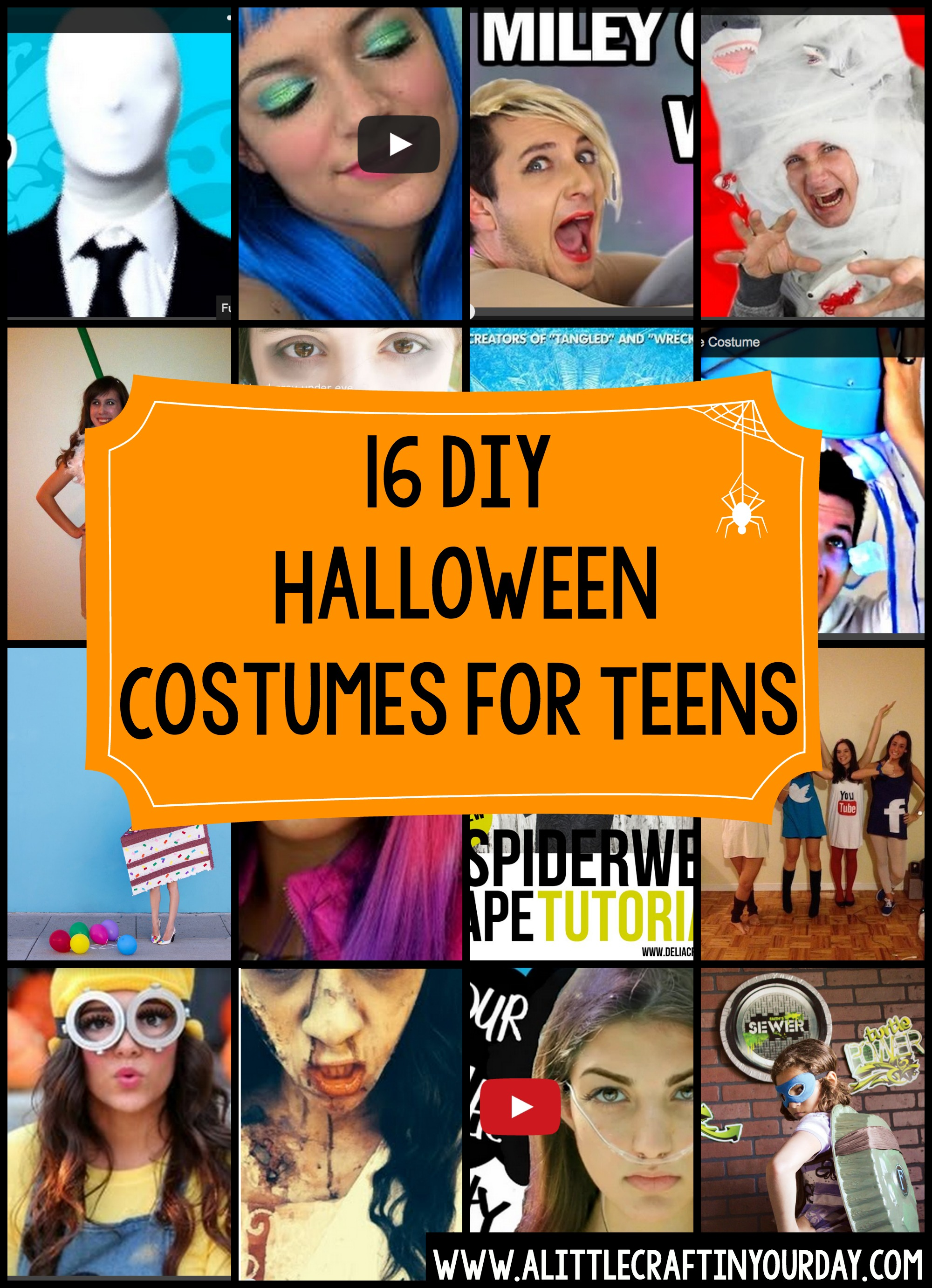 diy halloween costumes for teens a little craft in your day. Black Bedroom Furniture Sets. Home Design Ideas