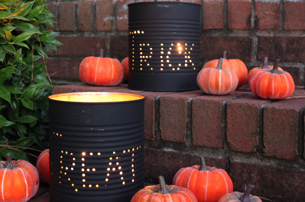 Halloween tin can luminaries a little craft in your day 930 halloween tin can luminaries solutioingenieria Choice Image
