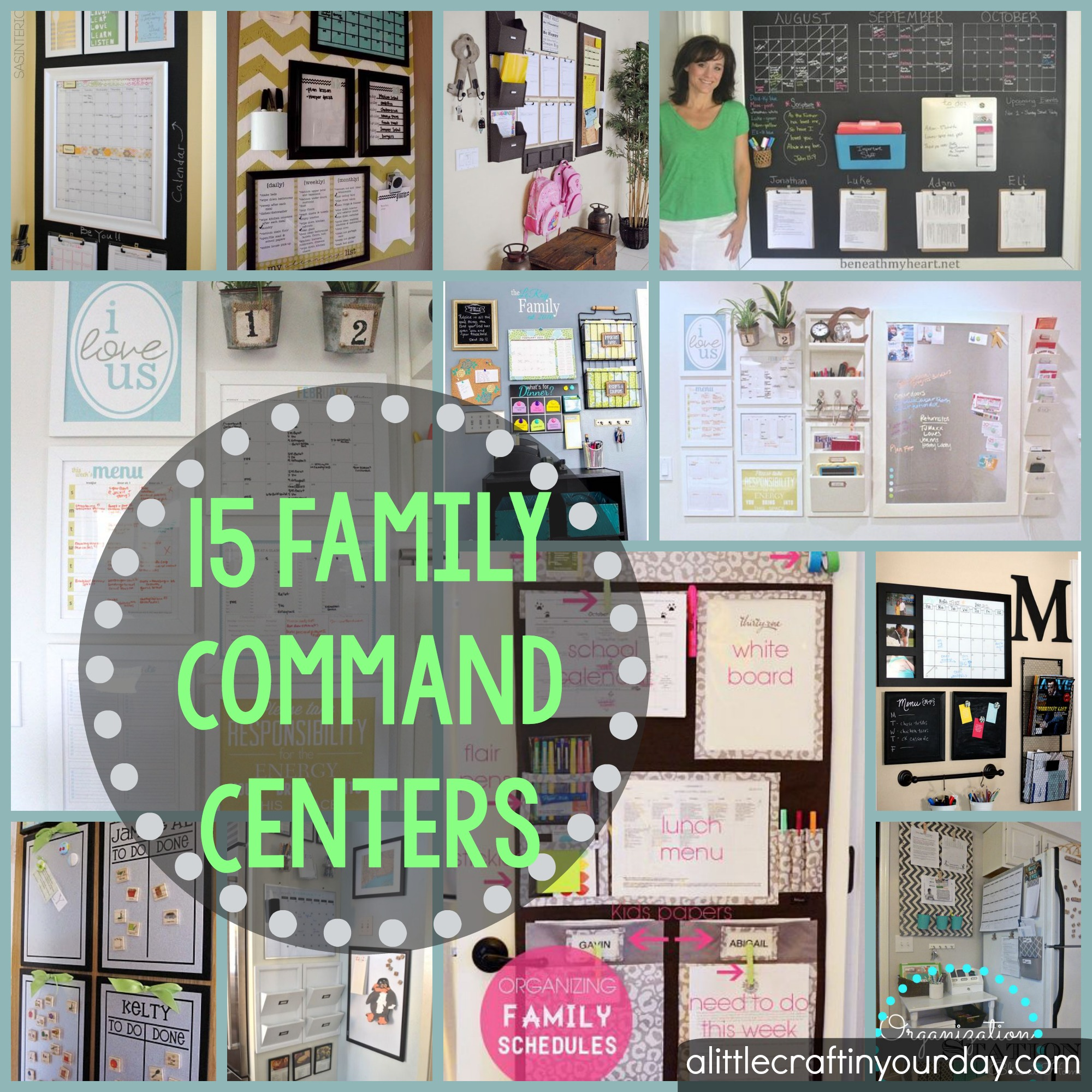 15 Family Command Centers  A Little Craft In Your Day - Fall Home Decor Diy