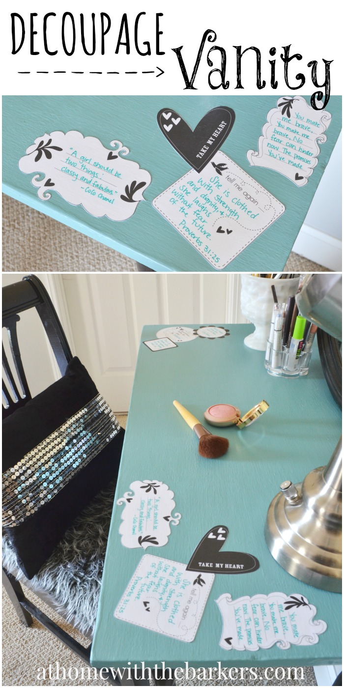 Decoupage Vanity Table A Little Craft In Your Day
