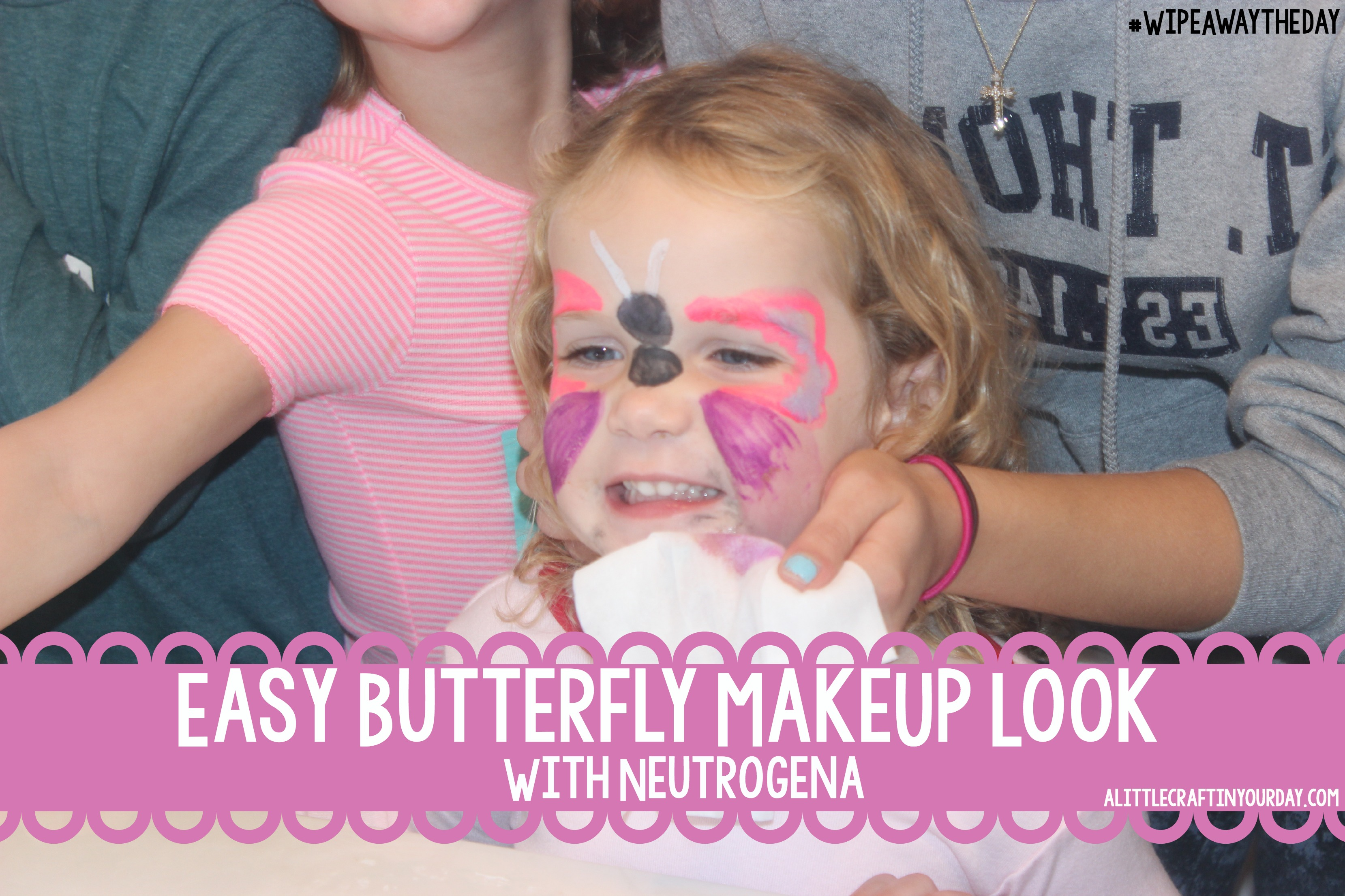 Easy Butterfly MakeUp Look with Neutrogena - A Little Craft In Your Day