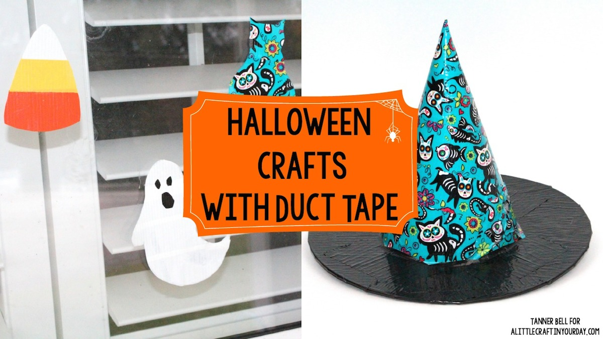 diy halloween crafts with duct tape a little craft in your day. Black Bedroom Furniture Sets. Home Design Ideas
