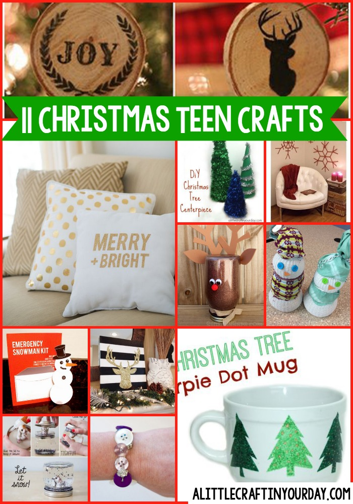 11 diy christmas teen crafts a little craft in your day