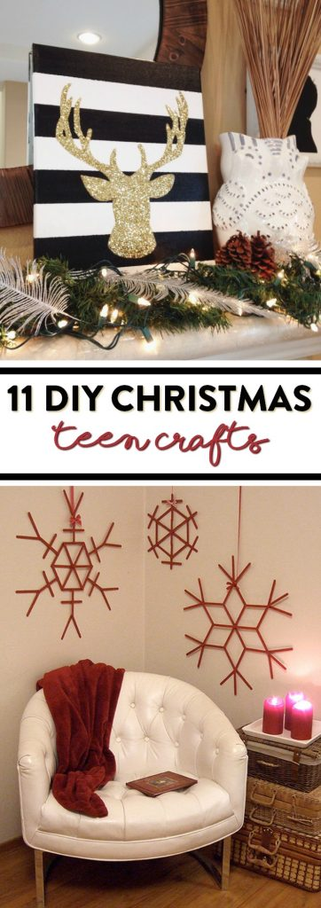 11 diy christmas teen crafts a little craft in your day diy christmas jar candle solutioingenieria Gallery